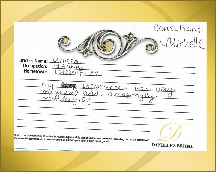 Comment Cards from our customers