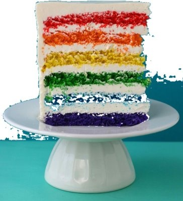 how to make different colored cake layers