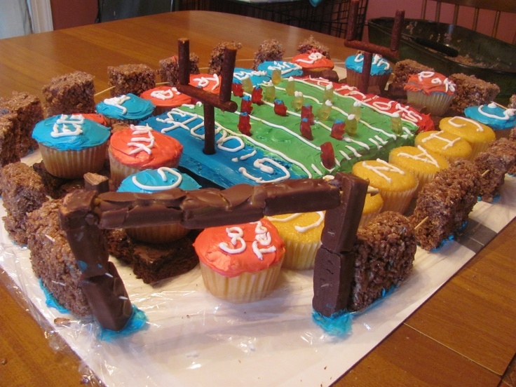 ... treats is stadium. Cupcakes and Brownies are fans. Cake is field