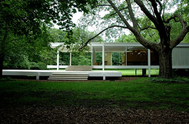 Farnsworth House by Mies van der Rohe, Plano, Illinois