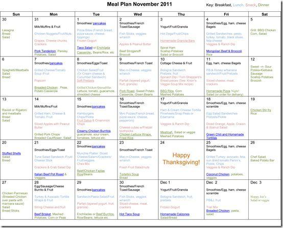 school menu planner - Tomburmoorddiner