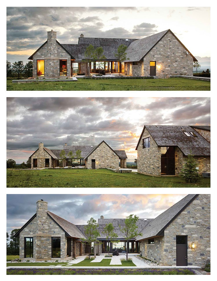 Rustic Modern U Shaped Country Home Building Blocks