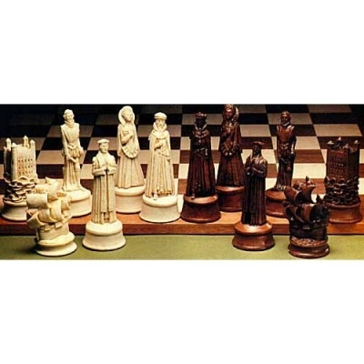 Elizabethan crushed stone chess pieces chess sets pinterest - Granite chess pieces ...