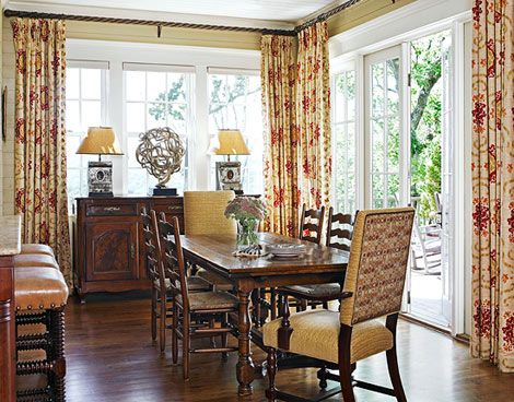 Good Casual Dining Room Traditional Home Love The Curtains Too