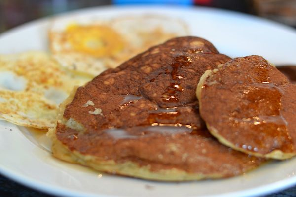 fluffy-paleo-coconut-flour-pancakes. Raw honey adds so much flavor