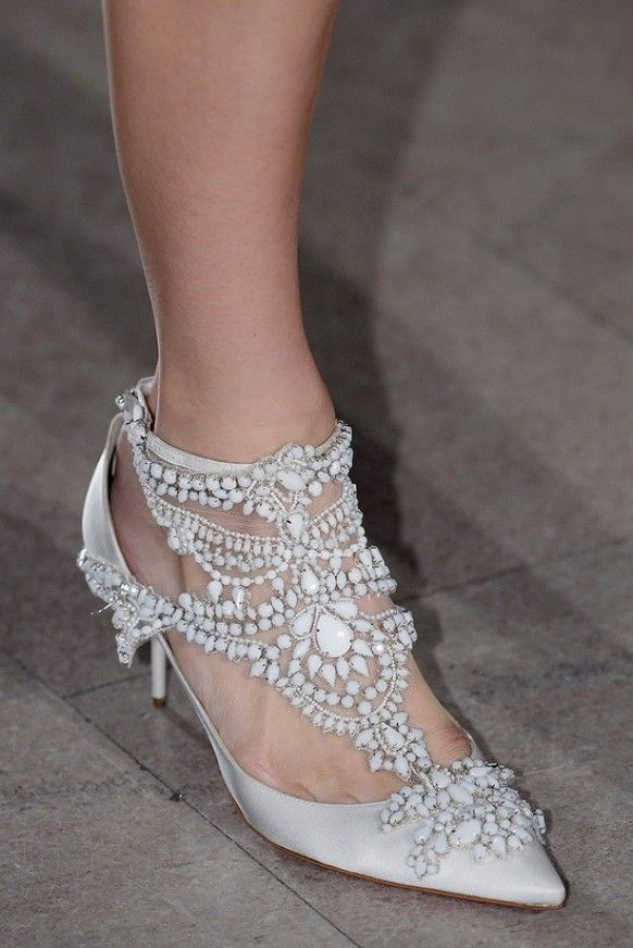 Bride Shoes - These would look great if they had a square or round toe