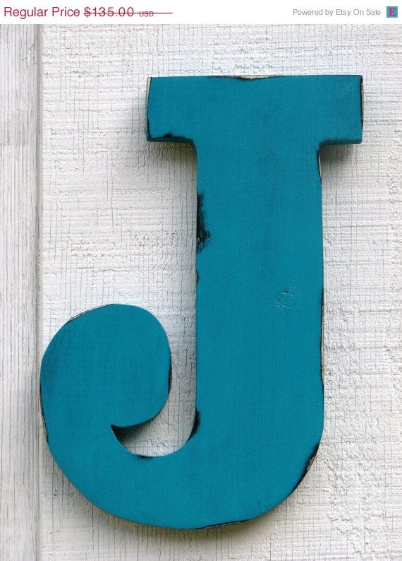 Extra Large Letters Wall Decor : D extra large wall wood letter foot tall wedding decor