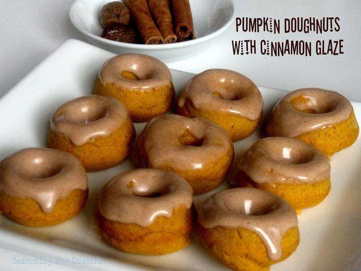 National Doughnut Day! Baked Pumpkin Doughnuts with Cinnamon Glaze ...