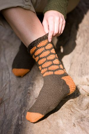 Crochet Me : Honeycomb Socks - Crochet Me Crochet Pinterest