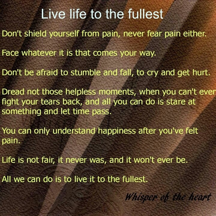 how to live to the fullest