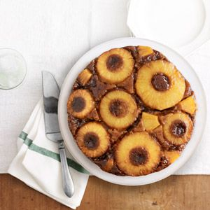 Salted Caramel Pineapple Upside Down Cake Recipe - Country Living