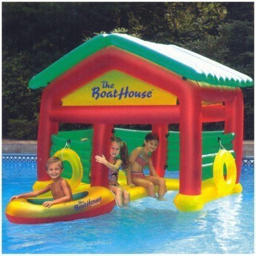 Pools For Backyards Inflatable : Pool Raft Boat house Lake Backyard Pool inflatable #Heritage