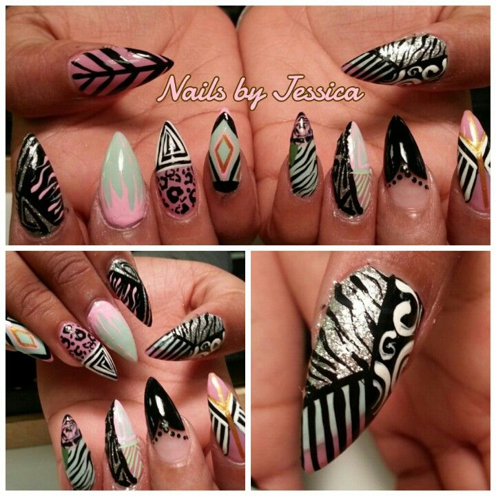 stiletto nail art designs nail designs hair styles tattoos and fashion heartbeats. Black Bedroom Furniture Sets. Home Design Ideas