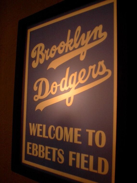 Man Cave Lighted Beer Signs : Brooklyn dodgers baseball stadium beer bar pub lighted man