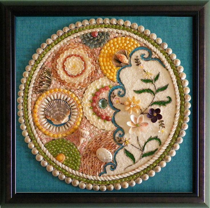 Mosaic shell art via etsy sailor 39 s valentines for Seashell mosaic art