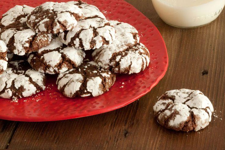 Gooey Chocolate Crinkle Cookies   Recipe