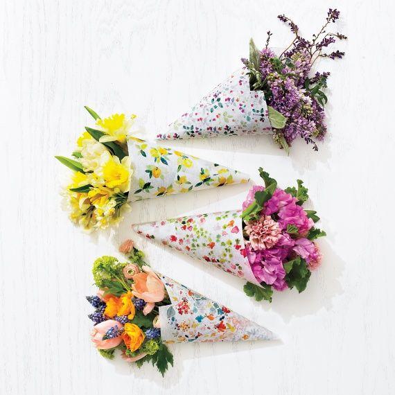 Flower bouquet wraps.