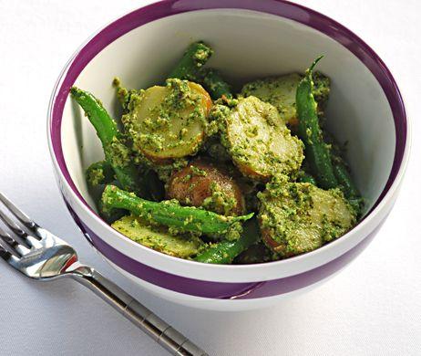 ... Potato and Green Bean Salad with Arugula Pesto | recipe from Blue