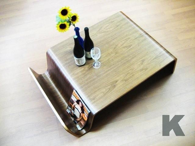 Tavolino Salotto in Legno con Portariviste Design Nuovo