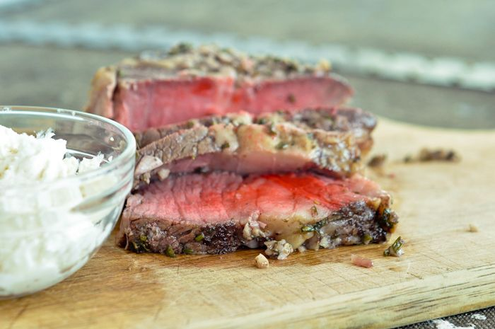 ... and Rosemary Crusted Beef Tenderloin with Creamy Horseradish Sauce