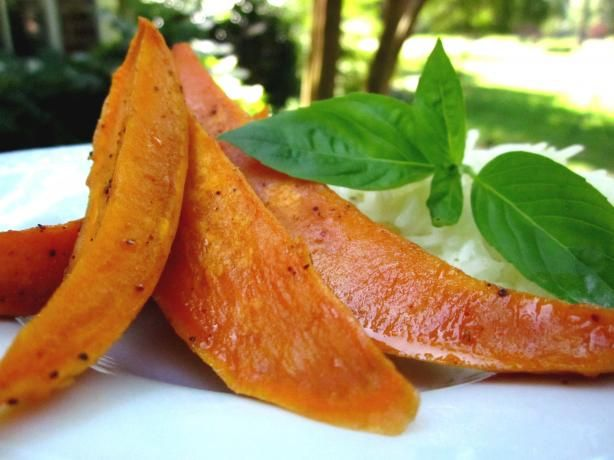 Oven-Roasted Spicy-Sweet Sweet Potatoes from Food.com: For those who ...