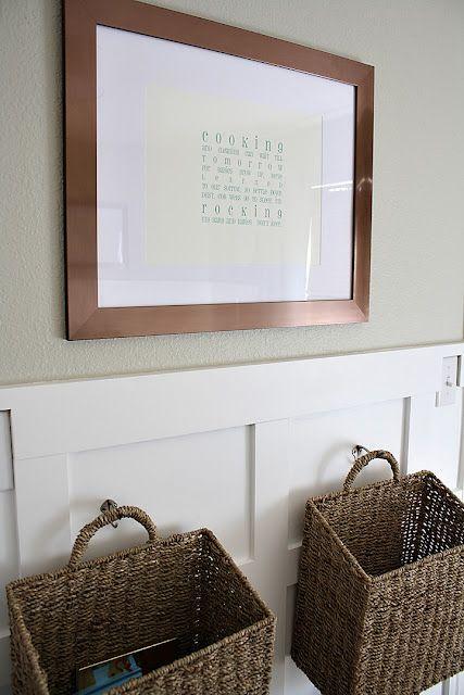 baskets + board and batten