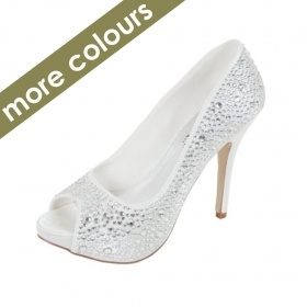 Perfect Wedding Shoes Collection 'Sarah' Perfect Crystal Platform Peep