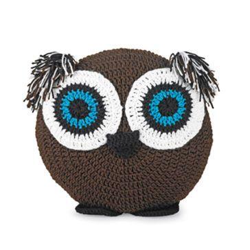 Free Crochet Owl Cushion Pillow Pattern : Crocheted Owl Pillow crochet dolls Pinterest