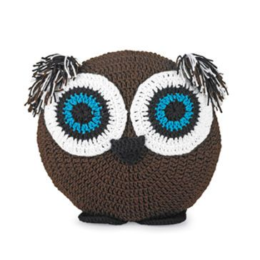 Free Crochet Pattern For Owl Pillow : Crocheted Owl Pillow crochet dolls Pinterest