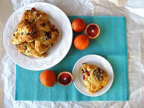 Blood Orange and Dark Chocolate Scones | Edibles | Pinterest