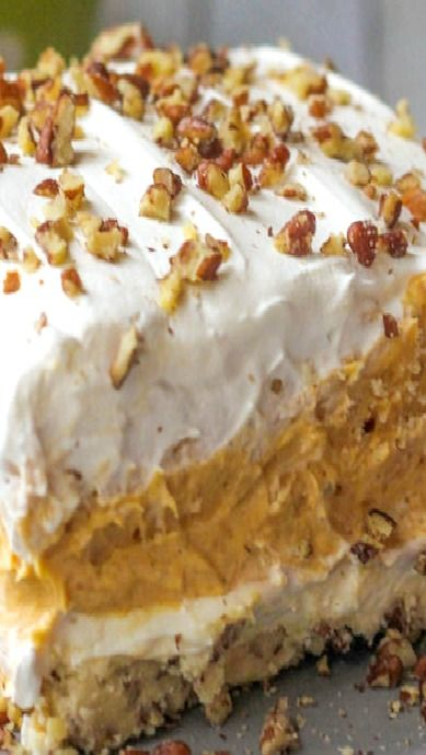 Layered Pumpkin Dessert..Perfect for Thanksgiving