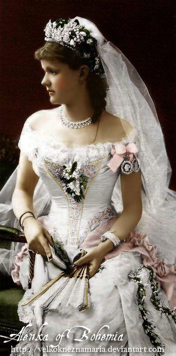 Princess Helen, Duchess of Albany, in her wedding dress.