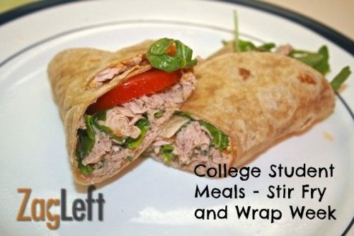 Student Meals featuring recipes for Stir Fry, Broiled Chicken, Wraps ...