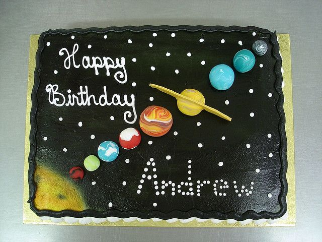Solar System Edible Cake Toppers