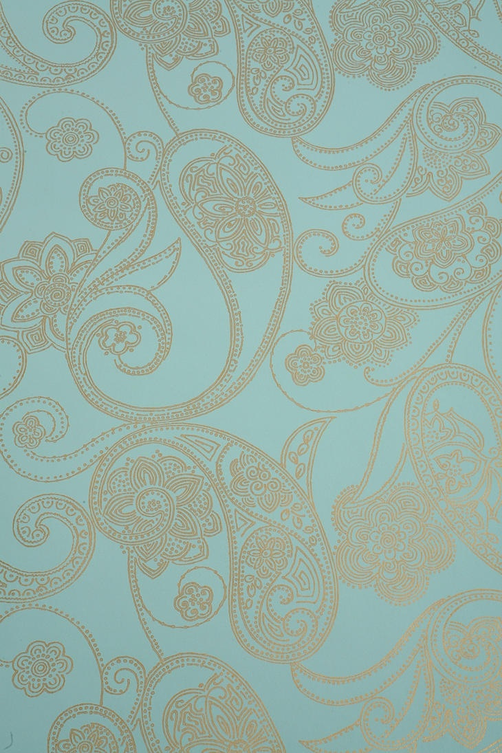 Paisley Dot Wallpaper