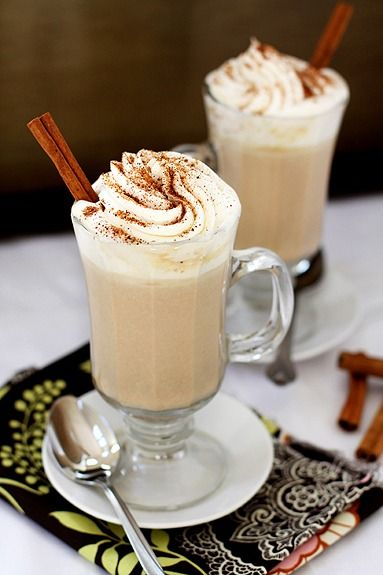 ... fall evening and serve these Pumpkin Spice White Hot Chocolate drinks