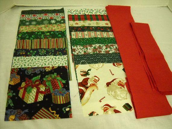 table Fabric Santa  quilt Christmas runner Runner by ThriftyFabricsETC, christmas Table $  Quilt Kit kits