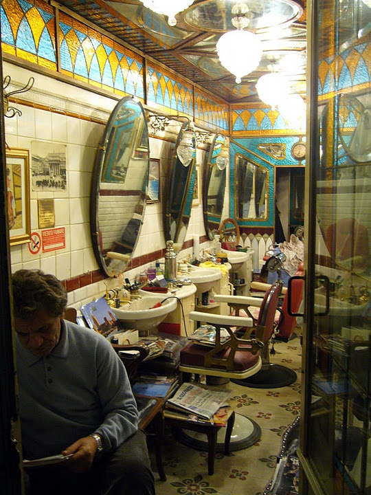 Barber Shop in Genoa, Italy. That same man was sitting in that exact ...
