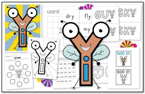 Teaching Y says long /i/ with Mr. Fly Guy!