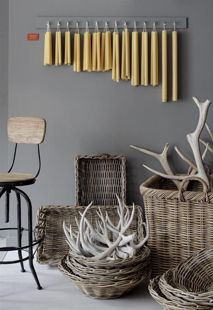 baskets & antlers