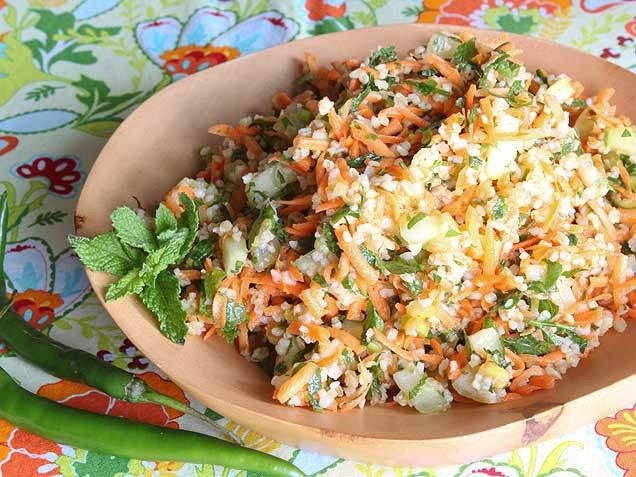 Spicy Carrot Tabbouleh. This salad just screams summer! http://www ...