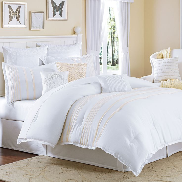 Mulberry white and pearl comforter bedding