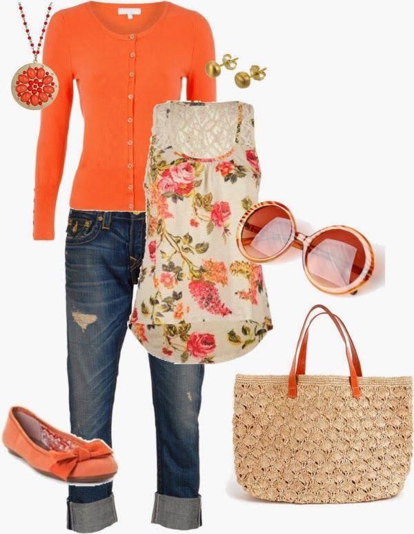 Spring Outfits | Spring Orange & Pink