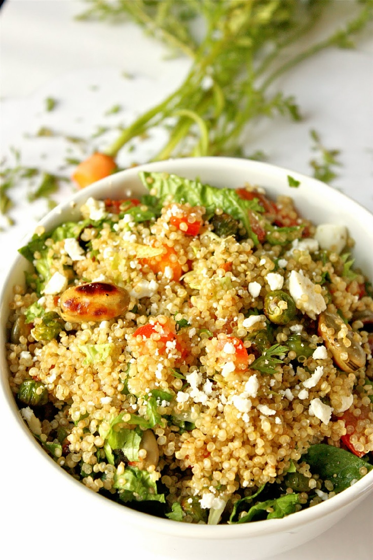 Quinoa Salad loaded with Fava beans, fresh peas and Balsamic ...