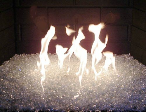 Fireplaces With Glass Rocks Fireplace Glass Burner Kit 50 LBS Clear 18 Burner By Fireplace