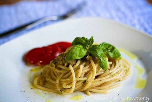 Spaghetti With Pesto Trapanese Recipes — Dishmaps