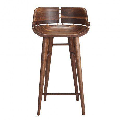 Walnut kurf counter stool house pinterest