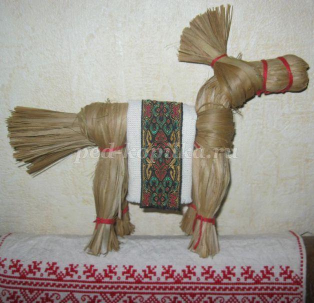 Лошадка из лыка своими руками 2