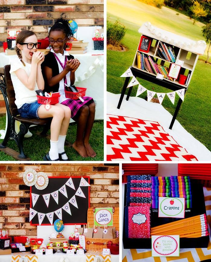 Back to school party planning ideas supplies idea for Back to school party decoration ideas