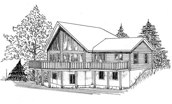 Prow Front Country Home Design House Plans Pinterest